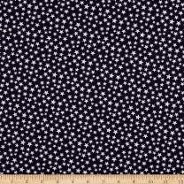 Santee Print Works Patriotic 108'' Quilt Backs Stars Dark Fabric, Navy/Antique, Fabric By The Yard
