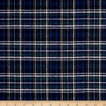 Richland Textiles Yarn Dyed Flannel Plaid Blue Fabric By The Yard