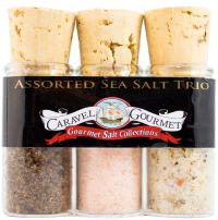 The Gourmet Sea Salt Mini Trio Sampler Set - Himalayan Pink Fine, Garlic Medley & Smoked Bacon Chipotle - Colorful, Delicious Salts - Gluten-Free, No MSG, Non-GMO