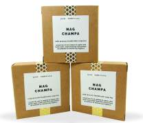 Cold Processed Handmade Soaps in Unisex Fragrances, 3 Pack Full Size Bars, Made in USA (Nag Champa)