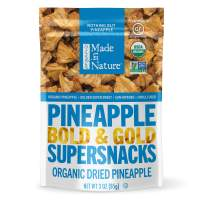 Made In Nature Organic Dried Pineapples, 3 oz (Pack of 6) - Non-GMO Vegan Dried Fruit Snack