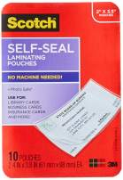 Scotch Self-Sealing Laminating Pouches, Business Card Size, 2 Inches x 3.5 Inches, 10 Pouches (LS851-10G)