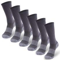 Copper Socks, Three street Unisex Cushioned Sole Arch Support Athletic Ankle/Crew Performance Home Training Socks