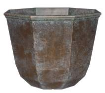 """Classic Home and Garden 8005-377R Planter, 15"""" Shaina, Weathered Copper"""