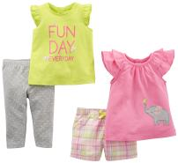 Simple Joys by Carter's Baby Girls' Infant 4-Piece Playwear Set