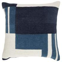 Amazon Brand – Rivet Modern Geometric Throw Pillow - 18 x 18 Inch, Blue
