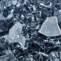 Steel Blue - Fire Glass for Indoor and Outdoor Fire Pits or Fireplaces | 10 Pounds | 1/4 Inch