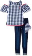 U.S. Polo Assn. Girls' Fashion Top and Pant Set