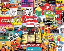 White Mountain Puzzles Snack Bar - 1000 Piece Jigsaw Puzzle