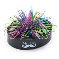 Mr Pen- Magnetic Desk Toy with Colored and Silver Paper Clips (100 Pieces), Desk Toys, Desk Decor, Desk Accessories, Paperweight, Cute Office Supplies, Paper Clips Holder, Paper Clip Dispenser