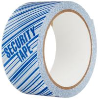 """3M 371 Printed White Carton Sealing Tape - 2 in. x 55 yds. Adhesive Tape Roll with Blue """"Security"""" Lettering. Sealants and Adhesives"""