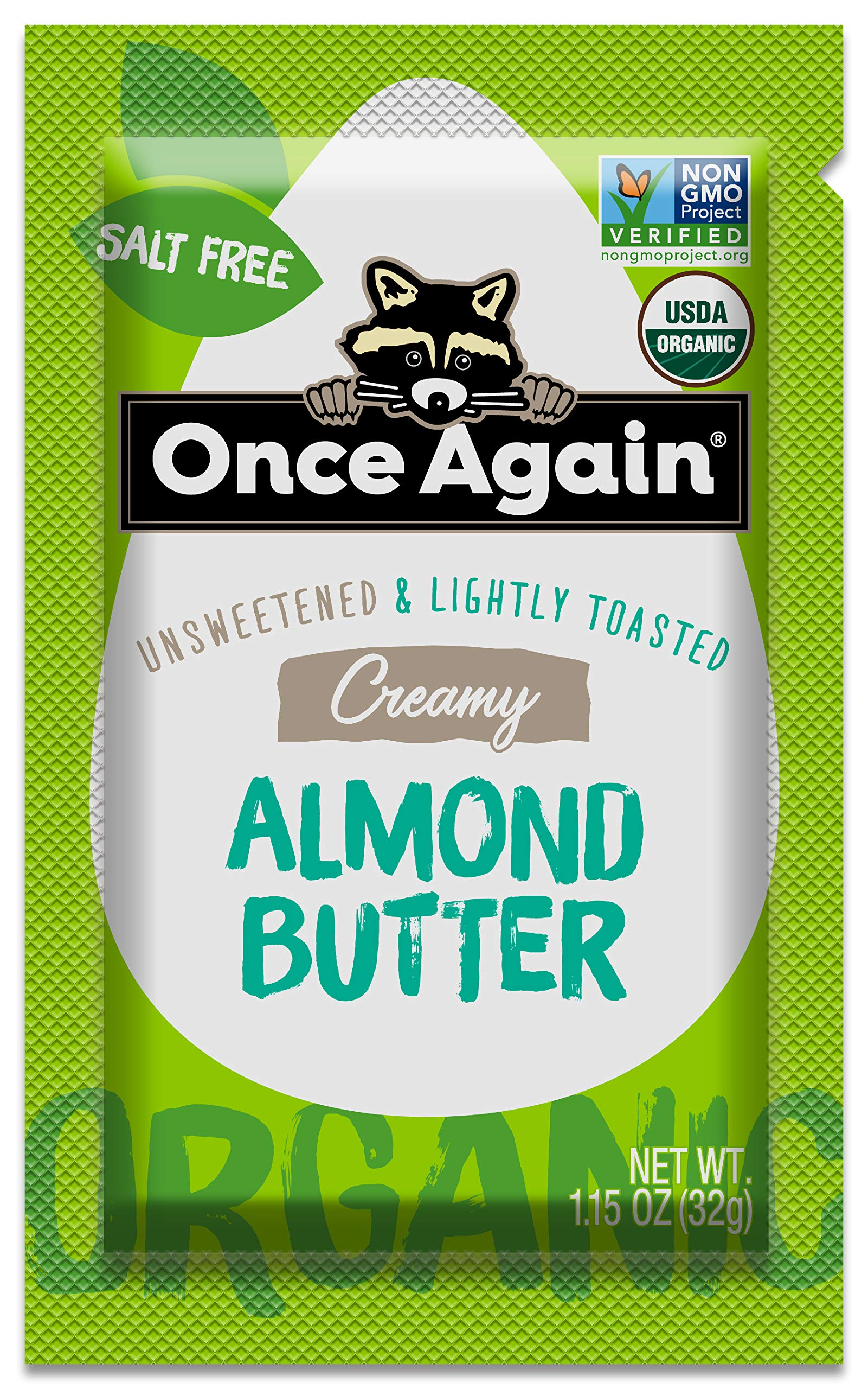Once Again Organic Almond Butter, Lightly Toasted, 10 Count