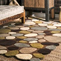 nuLOOM Pebbles Hand Tufted Accent Wool Rug, 2' x 3', Brown