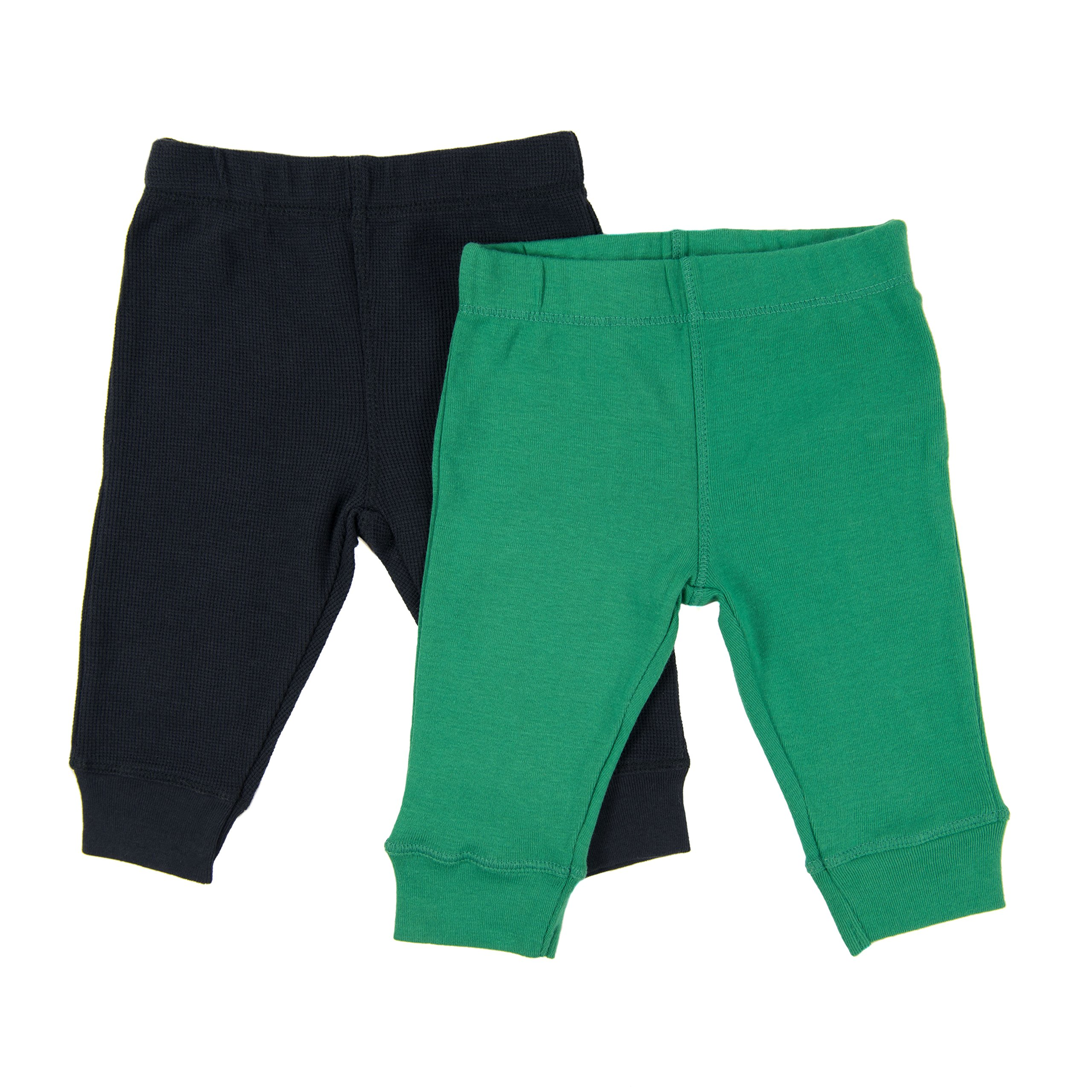 Leveret Solid Baby Crawling Pants & Legging Set Kids Baby Pants (Size 3-24 Months) Variety of Colors