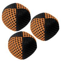 speevers Juggling Balls for Beginners and Professionals Set of 3, 10 Fresh Beautiful Summer Colors Available, 2 Layers of Net and Carry Case, Xballs Juggling Balls (Black - Orange, 70g)