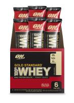 Optimum Nutrition Gold Standard 100% Whey Protein Powder Individual Stick Packs, Vanilla Ice Cream, 6 Count