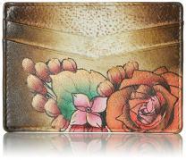 Anuschka Women's Genuine Leather Wallet   Hand Painted Original Artwork   Credit Card Case