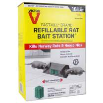Victor Fast-Kill Brand Refillable Rat Poison Bait Station – 8 Baits