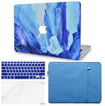LuvCase 4in1 LaptopCase for MacBook Air 13 Inch(2020/2019/2018) A2179/A1932 Retina Display (Touch ID)HardShellCover, Sleeve, Keyboard Cover & Screen Protector (Oil Paint 5)