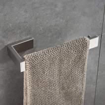 JunSun Square Towel Holder Stainless Steel Towel Ring Bathroom Hand Towel Holder Brushed Nickel Bathroom Hardware Bathroom Towel Ring Bathroom Towel Bar