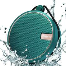 INSMY Portable IPX7 Waterproof Bluetooth Speaker, Wireless Outdoor Speaker Shower Speaker, with HD Sound, Support TF Card, Suction Cup, 12H Playtime, for Kayaking, Boating, Hiking (Teal)