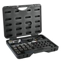 ARES 18010 - Universal Hydraulic Flaring Tool Set - Create 45 Degree Single or Double Flares, ISO and DIN Bubble Flares, Push Connect Flares and GM Fuel Line Flares