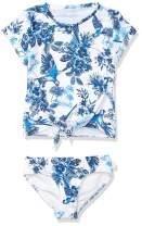 Seafolly Girls' Tie Front Short Sleeve Tankini Swimsuit Set