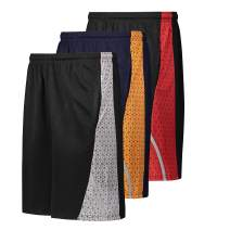 X-PRO Men's Athletic Shorts Active Performance - Workout Gym Shorts with Pockets - 3 Pack (XP Short 7, XX-Large)
