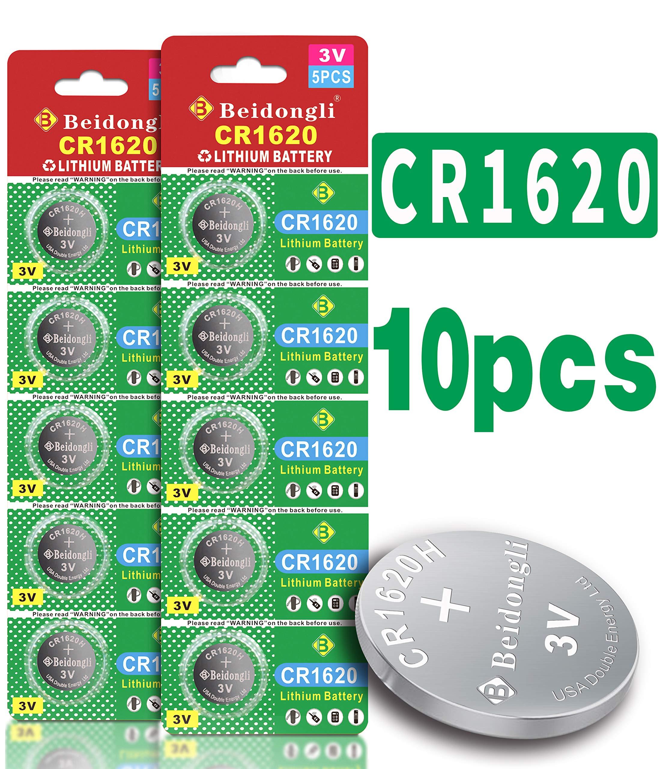 Beidongli CR1620 3 Volt High Capacity Lithium Coin Battery (10 Batteries)
