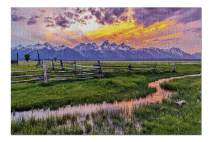 Grand Teton Sunset 9001552 (Premium 1000 Piece Jigsaw Puzzle for Adults, 19x27, Made in USA!)