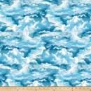 Studio E Fabrics The Lightkeeper's Quilt Clouds, Blue