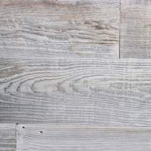 Weekend Walls - Reclaimed Weathered Redwood - DIY Easy Peel and Stick Wood Wall Paneling (40 Sq Ft, Silver)