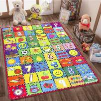 teytoy Baby Rug for Crawling - How Many Are There? Kids Area Rugs Educational Play Mat for Room Decor, Count Game, Learn Animals, Expressions, Family Beach Carpet Outdoor Indoor Gift 3.4' x 5'