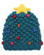 MIRMARU Christmas Holiday Fashion Collections Winter Knitted Pom Pom Beanie Hat.