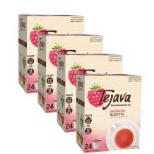 Tejava Original Black Tea With Natural Raspberry Flavor Pods, Case Of 96 Recyclable Single Serve Cups, No Artificial Ingredients, Sweeteners (Case Of 96)