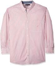 Nautica Men's Big and Tall Classic Fit Long Sleeve Vertical Stripe Button Down Shirt