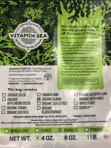 VITAMINSEA Organic Alaria Wild Atlantic Wakame Granulated Flakes Seaweed - 4 oz / 112 G Maine Coast Sun Dried - Raw Granules Sea Vegetables - USDA - Vegan - Kosher Certified - for Keto Diet (WG4)