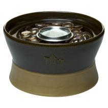 TIKI Brand Clean Burn Ceramic Tabletop Firepiece Torch, 7 Inch, Chocolate Brown