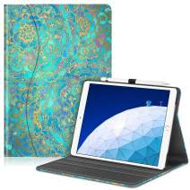 """Fintie Case for iPad Air (3rd Gen) 10.5"""" 2019 / iPad Pro 10.5"""" 2017- [Sleek Shield] Premium PU Leather Slim Fit Multi Angle Stand Cover with Pocket, Pencil Holder, Auto Wake/Sleep, Shades of Blue"""