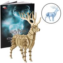 "Harry Potter Patronus Book and 3D Wood Model Figure Kit - Build, Paint and Collect Your Own Wooden Toy Model - Great for Kids and Adults, 8+ - 5 1/2"" h"