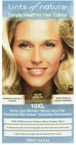 Tints of Nature 10XL Extra Light Blonde Permanent Hair Dye | A Light And Bright Cool Blonde Home Hair Colour Kit | Vegan Friendly | 130ml / 4.4 fl oz