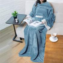 PAVILIA Deluxe Fleece Blanket with Sleeves for Adult, Men, and Women| Elegant, Cozy, Warm, Extra Soft, Plush, Functional, Lightweight Wearable Throw (Dusty Blue)