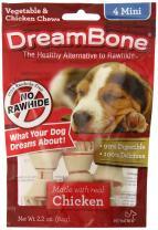 Dreambone Chicken Dog Chew, Mini, 4 Pieces/Pack