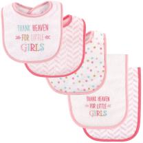 Luvable Friends Unisex Baby Bib and Burp Cloth Set, Girl Thank Heaven, One Size