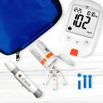 O'WELL Tyson Blood Glucose Monitoring Kit   Starter Kit + 200 Refills   Tyson HT100 Meter, 200 Test Strips, 200 Lancets, Lancing Device, Control Solution, Log Book, Manuals and Carry Case