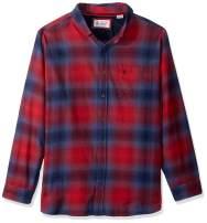 Original Penguin Men's Long Sleeve Plain Flannel Button Down Shirt