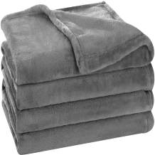 Utopia Bedding Fleece Blanket Throw Size Grey Luxury Bed Blanket Fuzzy Soft Blanket Microfiber