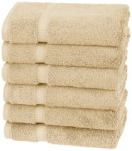 Pinzon Organic Cotton Hand Towels - Sand, 6-Pack