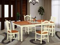 5 Pc Dinette set for 4-Dining Table and 4 Kitchen Dining Chairs