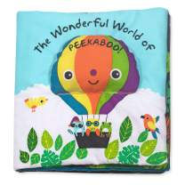 Melissa & Doug Soft Activity Book – The Wonderful World of Peekaboo, The Original (Developmental Toys, Cloth Lift-the-Flap Baby Book, Great Gift for Girls & Boys - Best for Babies & Toddlers)